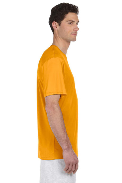 Hanes 4820 Mens Cool DRI FreshIQ Moisture Wicking Short Sleeve Crewneck T-Shirt Safety Orange Side
