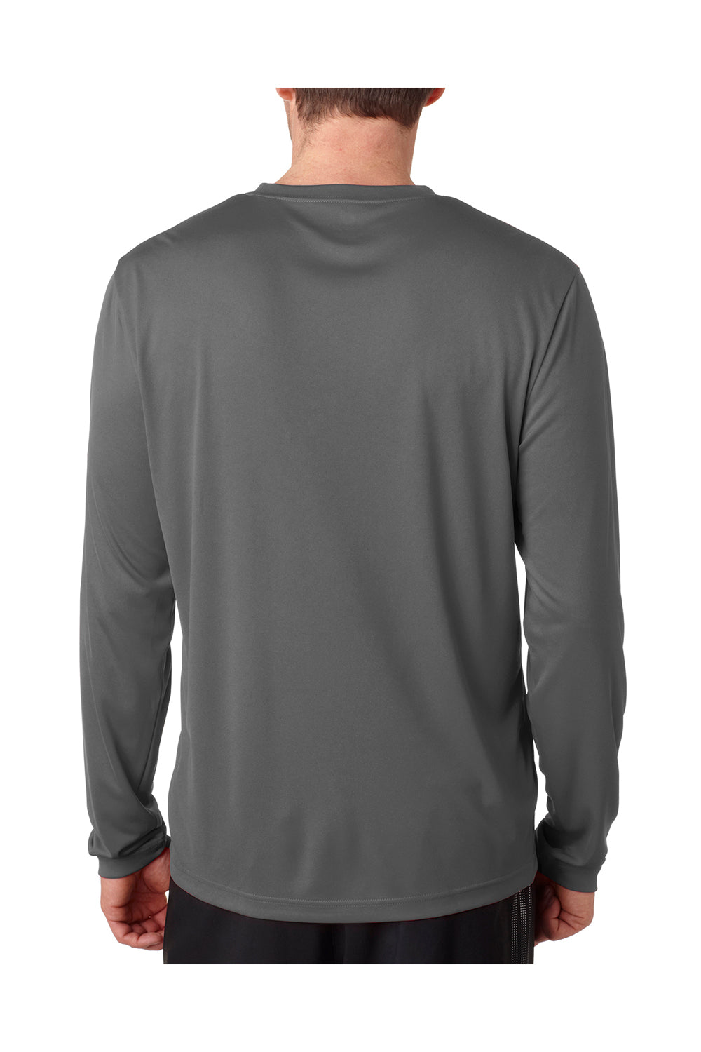 Hanes 482L Mens Cool DRI FreshIQ Moisture Wicking Long Sleeve Crewneck T-Shirt Graphite Grey Back