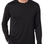 Hanes Mens Cool DRI FreshIQ Moisture Wicking Long Sleeve Crewneck T-Shirt - Black