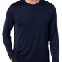 Hanes Mens Cool DRI FreshIQ Moisture Wicking Long Sleeve Crewneck T-Shirt - Navy Blue