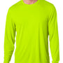 Hanes Mens Cool DRI FreshIQ Moisture Wicking Long Sleeve Crewneck T-Shirt - Safety Green