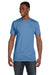 Hanes 4980 Mens Nano-T Short Sleeve Crewneck T-Shirt Carolina Blue Front