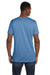 Hanes 4980 Mens Nano-T Short Sleeve Crewneck T-Shirt Carolina Blue Back
