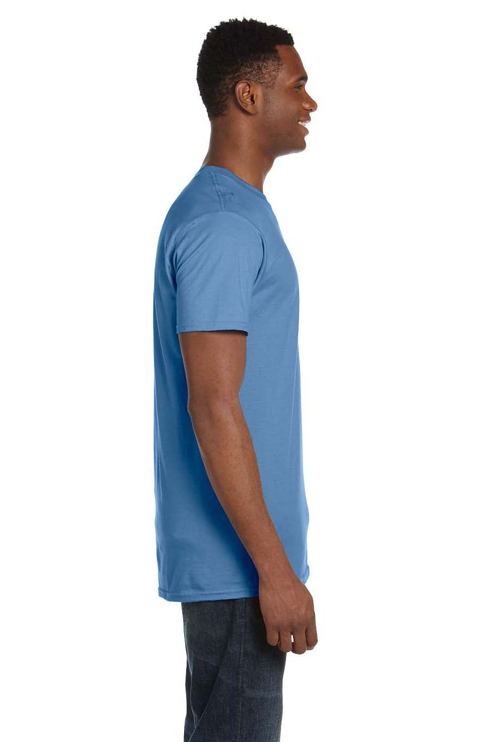 Hanes 4980 Mens Nano-T Short Sleeve Crewneck T-Shirt Carolina Blue Side