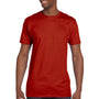 Hanes Mens Nano-T Short Sleeve Crewneck T-Shirt - Deep Red
