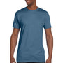 Hanes Mens Nano-T Short Sleeve Crewneck T-Shirt - Denim Blue