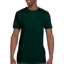 Hanes Mens Nano-T Short Sleeve Crewneck T-Shirt - Deep Forest Green