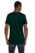 Hanes 4980 Mens Nano-T Short Sleeve Crewneck T-Shirt Forest Green Back