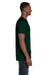 Hanes 4980 Mens Nano-T Short Sleeve Crewneck T-Shirt Forest Green Side