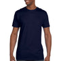 Hanes Mens Nano-T Short Sleeve Crewneck T-Shirt - Navy Blue