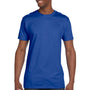 Hanes Mens Nano-T Short Sleeve Crewneck T-Shirt - Deep Royal Blue