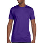 Hanes Mens Nano-T Short Sleeve Crewneck T-Shirt - Purple