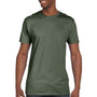 Hanes Mens Nano-T Short Sleeve Crewneck T-Shirt - Fatigue Green