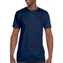 Hanes Mens Nano-T Short Sleeve Crewneck T-Shirt - Vintage Navy Blue