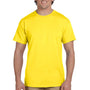 Hanes Mens EcoSmart Short Sleeve Crewneck T-Shirt - Yellow