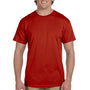 Hanes Mens EcoSmart Short Sleeve Crewneck T-Shirt - Deep Red
