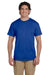 Hanes 5170 Mens EcoSmart Short Sleeve Crewneck T-Shirt Royal Blue Front