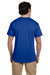 Hanes 5170 Mens EcoSmart Short Sleeve Crewneck T-Shirt Royal Blue Back