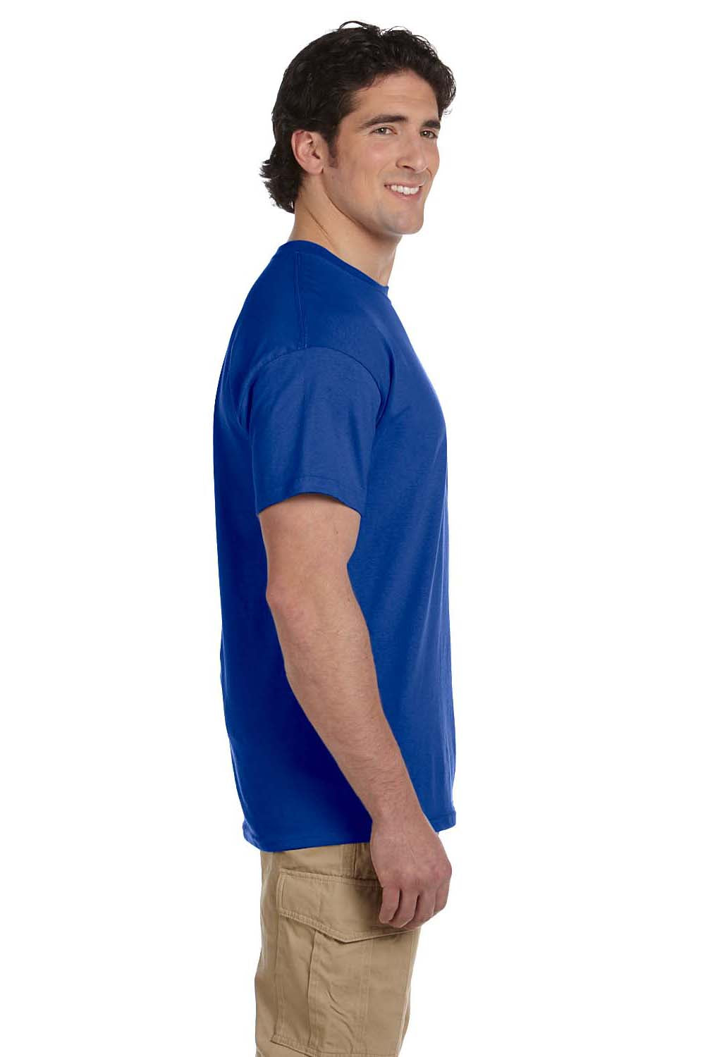 Hanes 5170 Mens EcoSmart Short Sleeve Crewneck T-Shirt Royal Blue Side