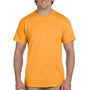 Hanes Mens EcoSmart Short Sleeve Crewneck T-Shirt - Gold