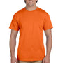 Hanes Mens EcoSmart Short Sleeve Crewneck T-Shirt - Orange