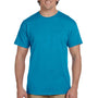 Hanes Mens EcoSmart Short Sleeve Crewneck T-Shirt - Teal Blue