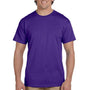 Hanes Mens EcoSmart Short Sleeve Crewneck T-Shirt - Purple