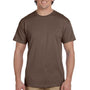 Hanes Mens EcoSmart Short Sleeve Crewneck T-Shirt - Heather Brown