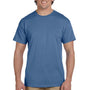 Hanes Mens EcoSmart Short Sleeve Crewneck T-Shirt - Heather Blue
