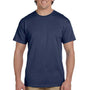 Hanes Mens EcoSmart Short Sleeve Crewneck T-Shirt - Heather Navy Blue