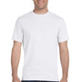 Hanes Mens Beefy-T Short Sleeve Crewneck T-Shirt - White