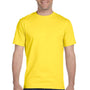 Hanes Mens Beefy-T Short Sleeve Crewneck T-Shirt - Yellow