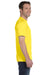 Hanes 5180 Mens Beefy-T Short Sleeve Crewneck T-Shirt Yellow Side