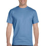Hanes Mens Beefy-T Short Sleeve Crewneck T-Shirt - Carolina Blue