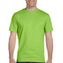 Hanes Mens Beefy-T Short Sleeve Crewneck T-Shirt - Lime Green