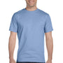 Hanes Mens Beefy-T Short Sleeve Crewneck T-Shirt - Light Blue