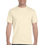 Hanes Mens Beefy-T Short Sleeve Crewneck T-Shirt - Natural