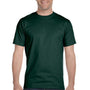 Hanes Mens Beefy-T Short Sleeve Crewneck T-Shirt - Deep Forest Green