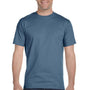 Hanes Mens Beefy-T Short Sleeve Crewneck T-Shirt - Denim Blue