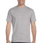 Hanes Mens Beefy-T Short Sleeve Crewneck T-Shirt - Light Steel Grey