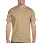 Hanes Mens Beefy-T Short Sleeve Crewneck T-Shirt - Pebble Brown