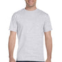 Hanes Mens Beefy-T Short Sleeve Crewneck T-Shirt - Ash Grey