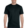 Hanes Mens Beefy-T Short Sleeve Crewneck T-Shirt - Black