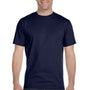 Hanes Mens Beefy-T Short Sleeve Crewneck T-Shirt - Navy Blue