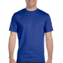 Hanes Mens Beefy-T Short Sleeve Crewneck T-Shirt - Deep Royal Blue