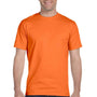 Hanes Mens Beefy-T Short Sleeve Crewneck T-Shirt - Orange