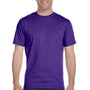 Hanes Mens Beefy-T Short Sleeve Crewneck T-Shirt - Purple