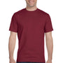 Hanes Mens Beefy-T Short Sleeve Crewneck T-Shirt - Cardinal Red