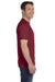 Hanes 5180 Mens Beefy-T Short Sleeve Crewneck T-Shirt Cardinal Red Side