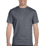 Hanes Mens Beefy-T Short Sleeve Crewneck T-Shirt - Heather Charcoal Grey